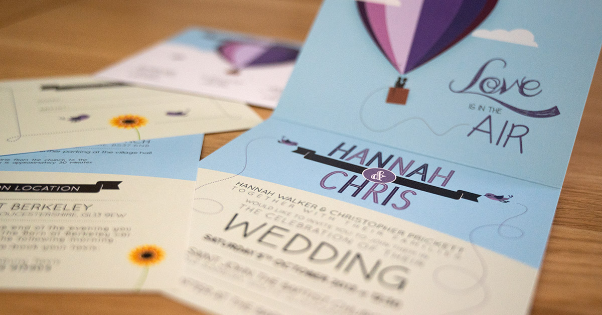 Creating beautiful, personalised wedding invitations & stationery.